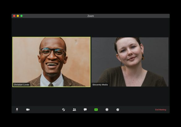Remote work interview